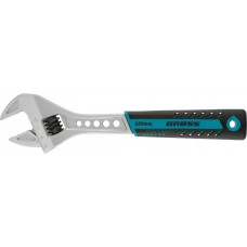 Ключ разводной, 250 мм,CrV, двухкомпонентная ручка /GROSS 15562