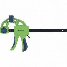 Струбцина F-образная, быстрозажимная, 150*70*360 мм, пласт.корпус, фиксатор