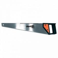 Ножовка по дереву, 450 мм, 5-6 TPI, каленый зуб, линейка, пластиковая рукоя