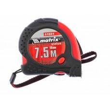 Рулетка Status magnet fixation, 7,5 м х 25 мм, обрезиненный корпус, зацеп с