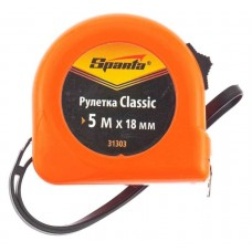 Рулетка Classic, 5 м х 18 мм, пластиковый корпус/ SPARTA 31303