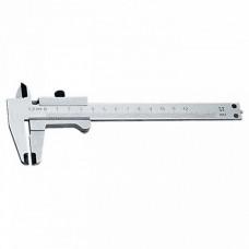 Штангенциркуль, 150 мм, цена деления 0,1 мм, углеродистая сталь, хромовое п
