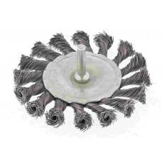 Щетка для дрели, 100 мм, плоская со шпилькой, крученая проволока/744327
