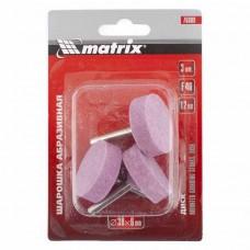 Шарошка абразивная, диск, 38x12x6, F46, 3шт. /MATRIX 76009