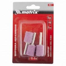 Шарошка абразивная, цилиндр, 19x25x6, F46, 3шт. /MATRIX 76017