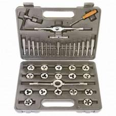 Набор метчиков и плашек М3 - М12, плашко-метчикодержатель, 40 предметов, в