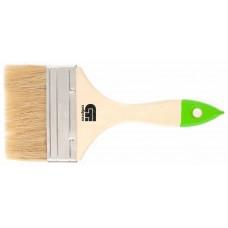 Кисть плоская 100 мм, натуральная щетина, деревянная ручка //Сибртех