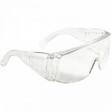 Очки защитные открытого типа, прозрачные, ударопрочный поликарбонат, бок. и