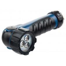 Фонарик светодиодный, противоударный, влагозащищённый, 3 ярких Led, 2хLR20,