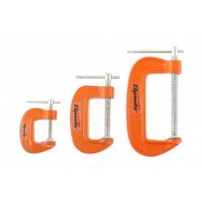 Набор: струбцины G-образные, 3 шт., 25-50-75 мм/ SPARTA 206755