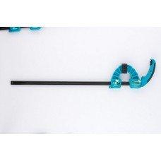 Струбцина реечная быстрозажимная,пластик.корпус,рычаж.храповый механ/20709
