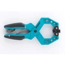 Струбцина GROSS клещеобразная, пластиковый корпус, храповый механизм/20803
