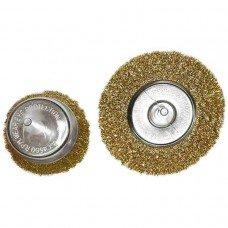 Набор щеток для дрели, 2 шт., 1 плоская, 100 мм, + 1 чашка, 75 мм, со шпиль