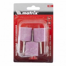 Шарошка абразивная, цилиндр, 32x32x6, F46, 3шт. /MATRIX 76016