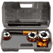 Набор клуппов 1/2-3/4-1+ плашкодержатель с трещоткой, 6 предм. SPARTA
