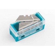 Лезвия МИНИ, 9 мм, трапециевидные, пластиковый пенал, 15 шт./GROSS 79373