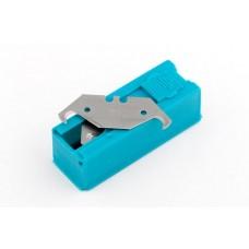 Лезвия, 19 мм, трапециевидные крючкообразные, пластиковый пенал, 12 шт. GRO