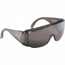 Очки защитные открытого типа, затемненные, ударопрочный поликарбонат, бок.