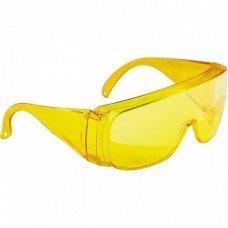 Очки защитные открытого типа, желтые, ударопрочный поликарбонат, бок. и вер