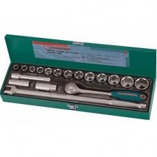 Набор головок торцевых 1/2DR 11-32 мм., с аксессуарами, 18 предметов