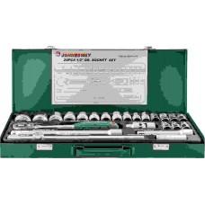 Набор головок торцевых 1/2DR, 8-34 мм., с аксессуарами, 24 предмета