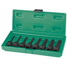 Набор ударных головок Torx 1/2DR, Т30 - T80, 78 мм, 8 предметов JW-S06A408S