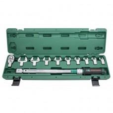 Ключ динамометрический 1/2DR 40-200 Нм. со сменными рожковыми насадками 13-