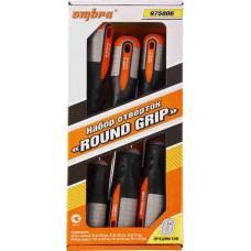 Набор отверток стержневых ROUND GRIP, 6 предметов OM975006