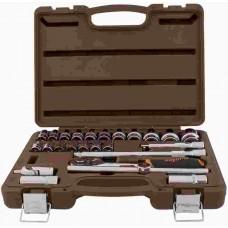 Набор головок торцевых с аксессуарами 1/2DR, 8-32 мм, 25 предметов OM911225