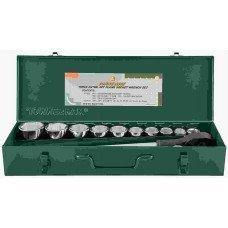 Набор головок торцевых 3/4DR 22-50 мм., с аксессуарами, 15 предметов