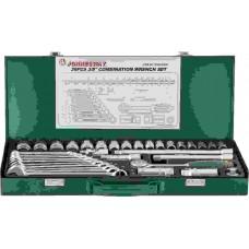 Набор торцевых головок 3/8DR 6-22 мм и комбинированных ключей 7-17 мм, 36 п
