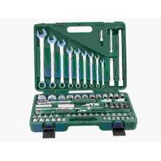 Универсальный комплект торцевых головок 1/4DR 4-14 мм и 1/2DR 14-32 мм и комби