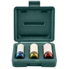 Набор головок торцевых ударных глубоких 1/2DR (пластик, цвет), 17-21 мм, 3