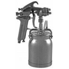 Покрасочный пистолет Краскопульт, нижний бачок алюминиевый 1л, дюза 1,6 мм