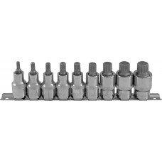 Набор насадок торцевых 1/2DR с вставками-битами SPLINE на держателе, M5-M18