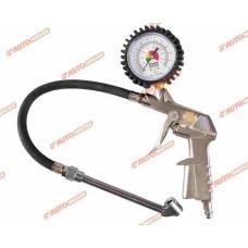Пистолет для подкачки шин с манометром (длинная насадка) AUTOMASTER/40