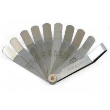 Набор калиброванных щупов 9 пластин 0,23мм(0,009) - 0,65мм(0,026) FORCE