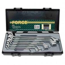 """Набор ключей накидных дюймовых 75° 8 пр. 1/4""""-1"""" в кейсе FORCE F5081S"""